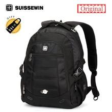 Suissewin Orthopedic Backpack Male Waterproof Laptop Backpack Bag Men's Urban Backpack Boys Black Brown Back Pack Sac a dos