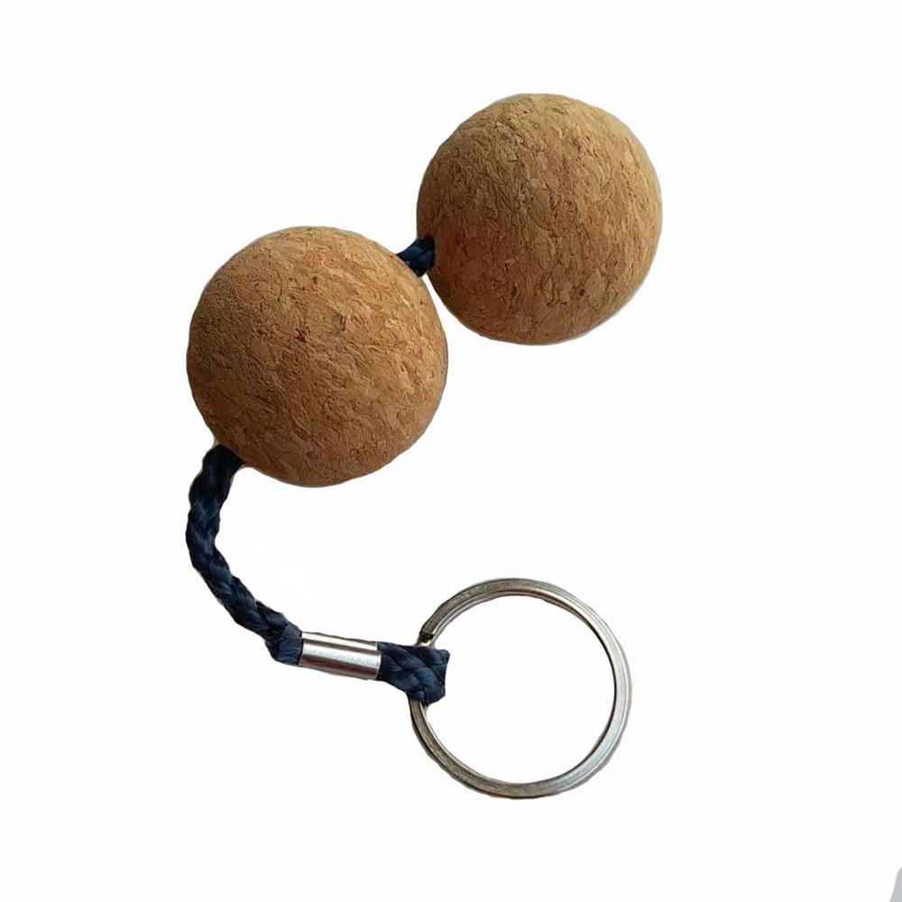 2 Balls Cork Keyring Keychain Buoyant Key Ring Key Holder Float Cool Gift For Diving Swimming Kayak Canoe