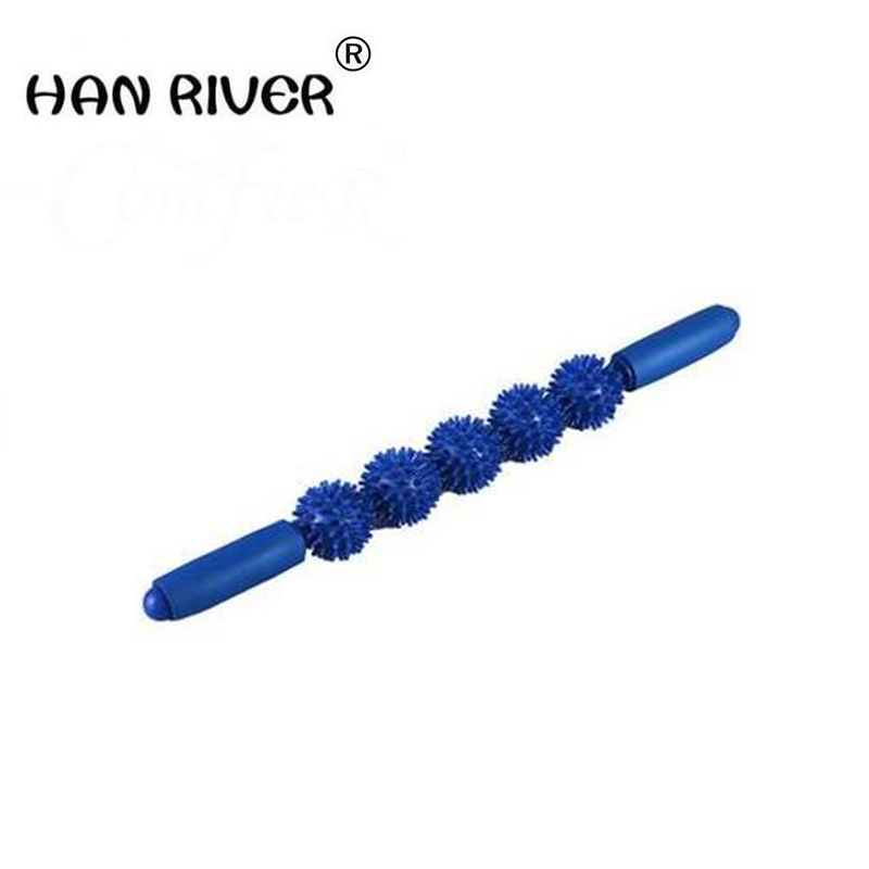 HANRIVER Multicolor thorn ball muscle massage stick Multifunctional massage body massager with high quality muscle good thorn ball suit whole body relax motion massage rolling wheel
