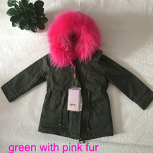Winter Baby Girls REAL  Fur Fleece Coat Party Pageant Warm Jacket Xmas Snowsuit Baby Outerwear Children Clothes