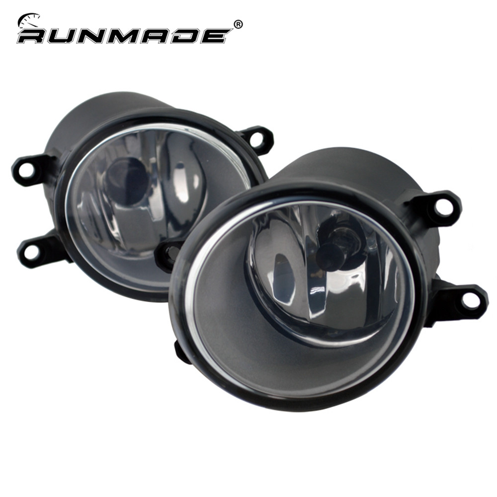 runmade For Toyota RAV4 Camry Solara Yaris Matrix Corolla Prius Sienna Lexus Scion Fog Light Lamp Left & Right Side for toyota corolla avensis yaris rav4 auris hilux prius app control car interior atmosphere decoration lamp rgb led strip light