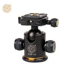 Q03 Profissional Câmera Cabeça do Tripé Panorâmica de 360 Graus de Montagem Giratória de Montagem Fotografia Portátil Tripé Bola de Cabeça