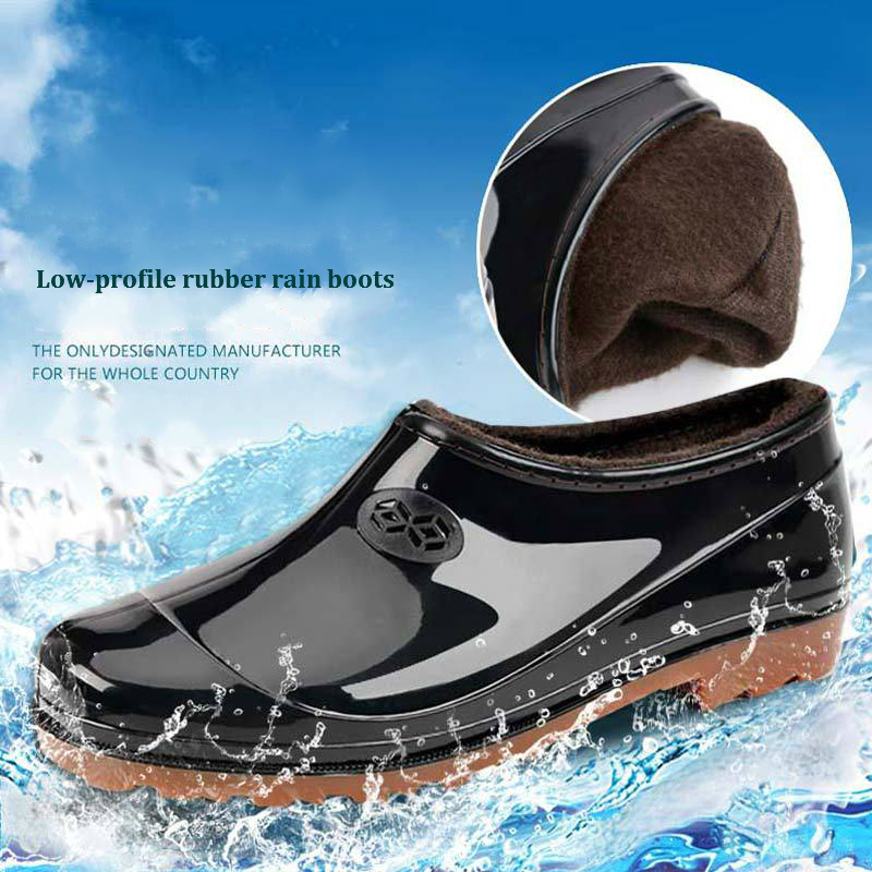 Low-profile Rain Boots Non-slip Shoes For Men And Women Waterproof Shoes Comfortable Low-top Shoes Rain Boots Work Shoes
