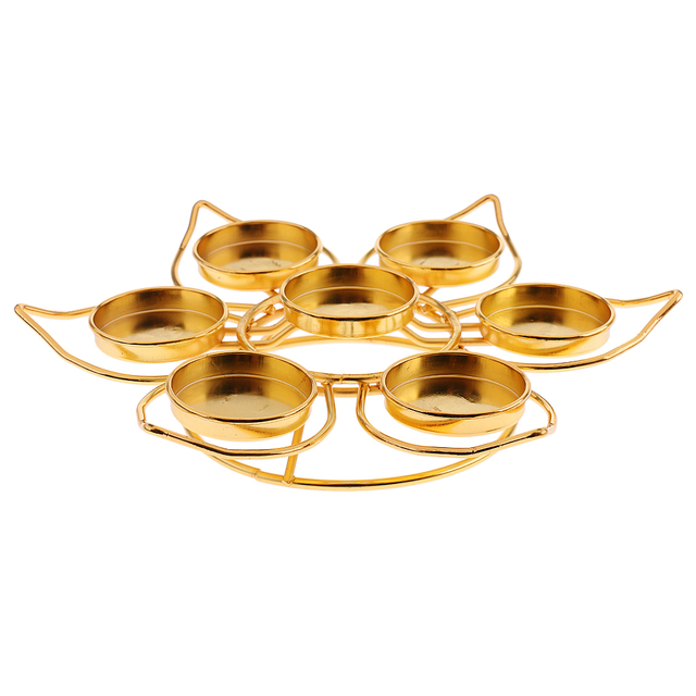 Assembled Lotus Style Alloy Butter Lamp Candle Holder Ghee Lamp Holder Tibetan Butter Brass Oil Lamp Buddha