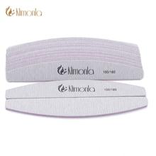 Klimonla 25pcs/lot 100/180 Professional Nail Files Sanding Buffer Nail file Block C-Curved Side Banana Manicure Pedicure Tools