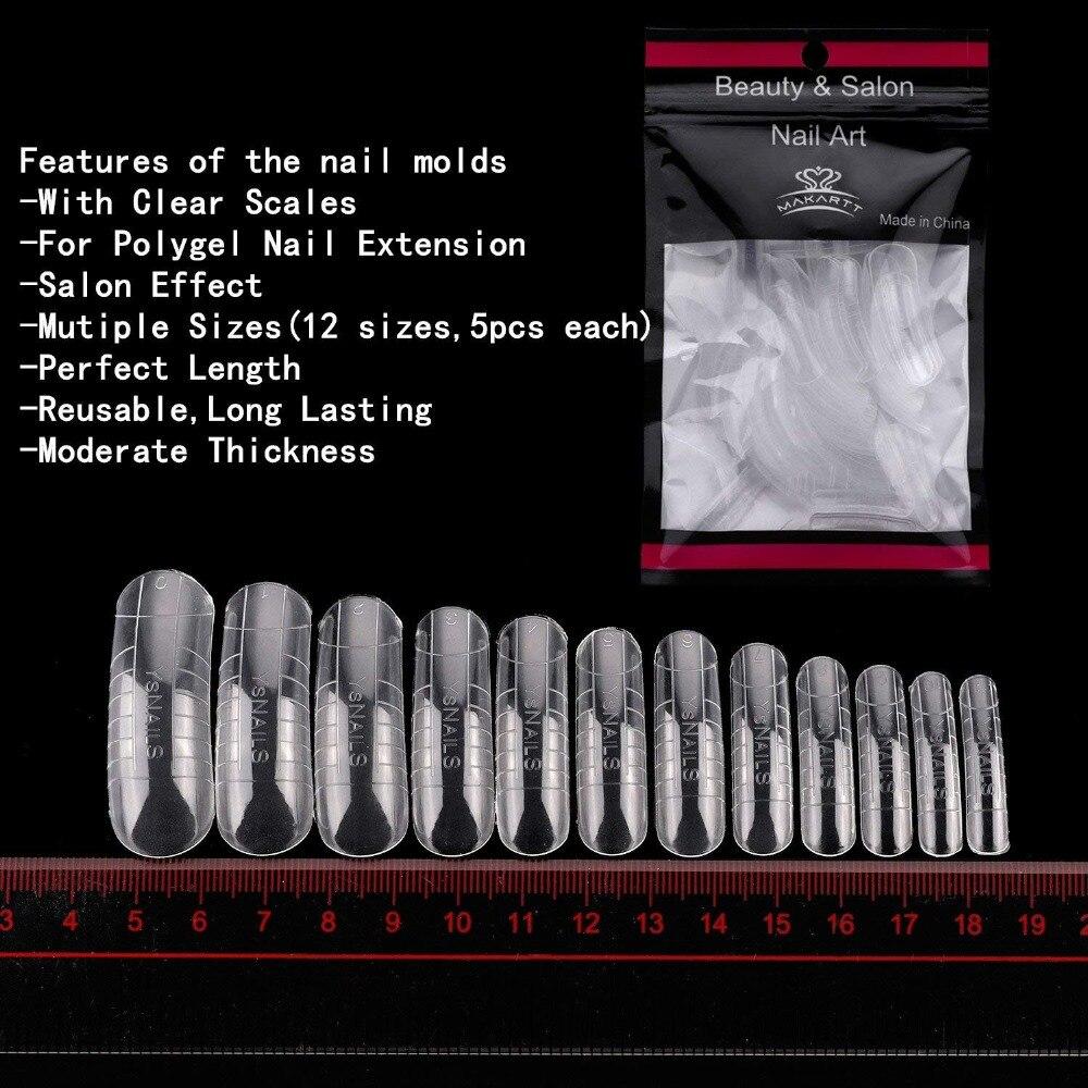 Makartt Poly Gel Kit Nail Extension Gel Builder Gel Enhancement Nail Technician All-in-One Crystal French Gel Builder Kit 11pcs