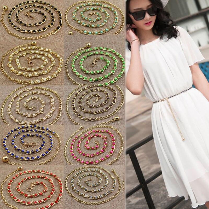 Women Fashion Pearl Belt Waistband Dress For Elastic Waist Vintage Belts Cummerbunds