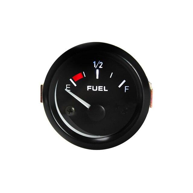 """2"""" inch 52mm Fuel Gauge Universal Black Sports Air Fuel Ratio/Fuel Car Meter Racing Gauges/Fuel Level Meter with Fuel Sensor"""