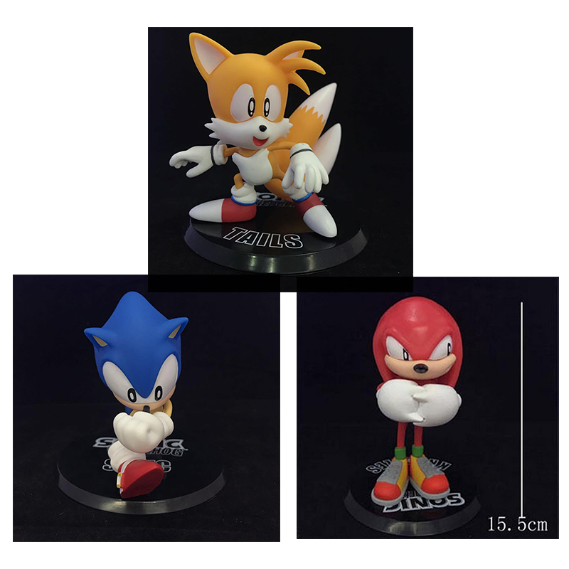 3pcs Sonic The Hedgehog Series 1 Collectible Figures Tails Sonic Knuckles Free Shipping футболка для беременных there is only a good mother 00031 2015