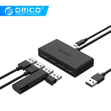 ORICO High Speed 4 Ports USB3.0 Hub USB Port USB Micro Port HUB Charging Hub USB Splitter for Apple Macbook Air Laptop PC Tablet(China)