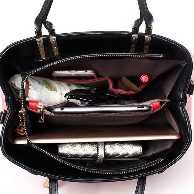 New 2017 Handbags For Ladies Cow Split Leather Fashion Woman Bags Hot Color Popular Handbags Big Bag Female