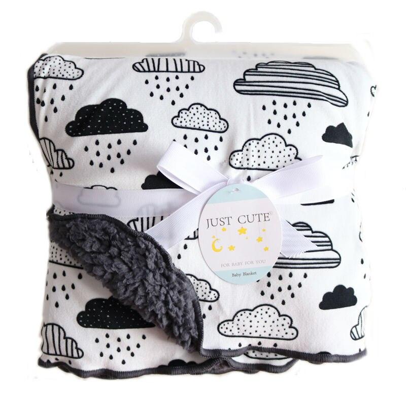 Baby Blankets 2018 New Thicken Double Layer Fleece Infant Swaddle Bebe Envelope Stroller Wrap For Newborn Baby Bedding Blanket