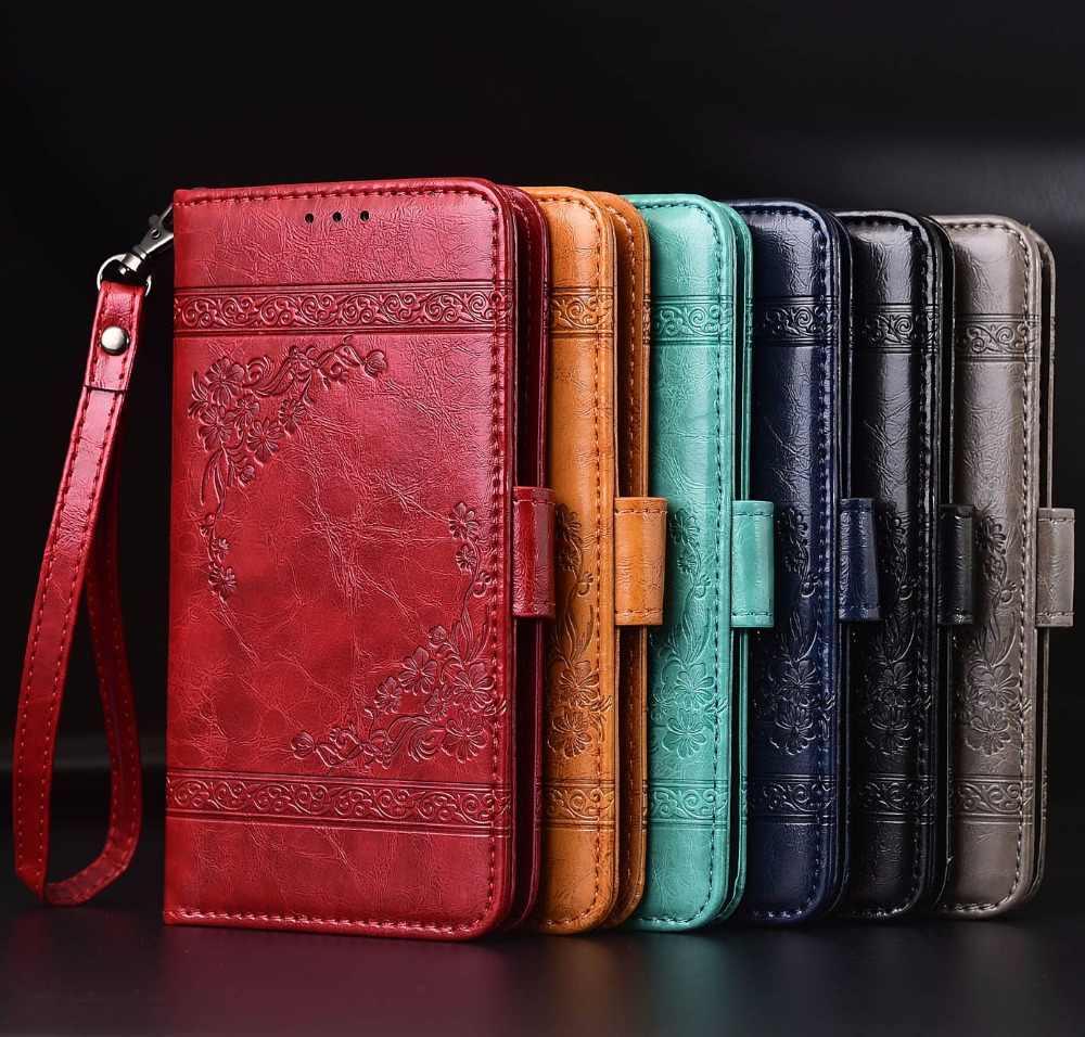 Lật Leather Case Đối Với Highscreen Điện Năm Max 2 Fundas In Hoa 100% Đặc Biệt wallet đứng trường hợp với Dây Đeo