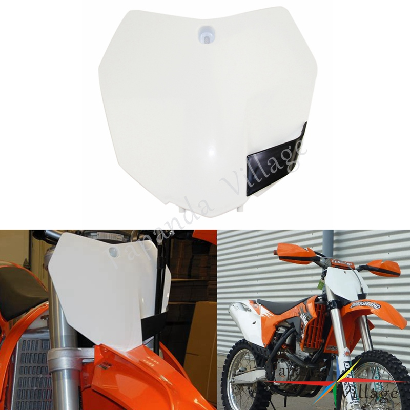 Papanda Motocross White Front Number Plate Dirt Bike For KTM SX SXF XCF 125 350 450 500 EXC XC-W MX Racing 2013-2015