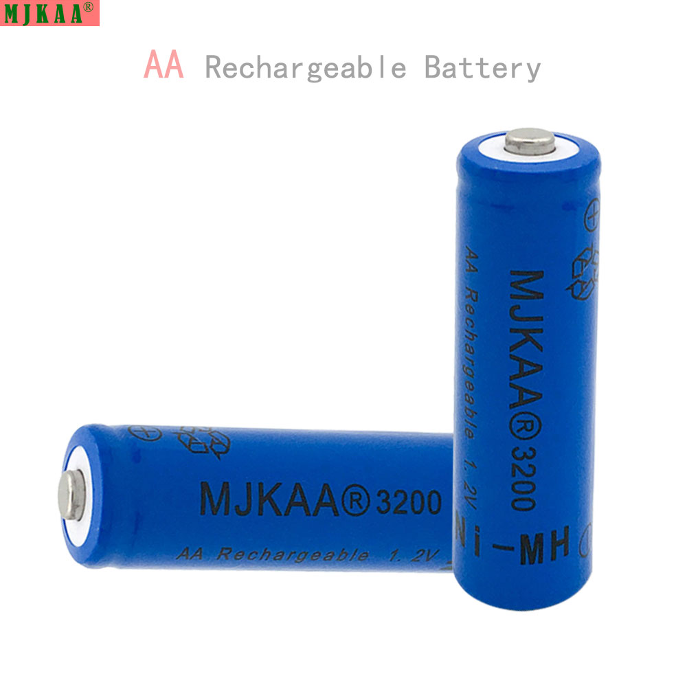 8Pcs AA 1.2V Ni-MH 3200mAh Battery 2A Batteries 1.2V AA Rechargeable Battery NI-MH battery for Remote control Toys LED lights