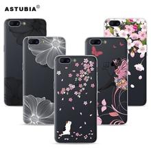Astubia Прозрачный чехол для OnePlus 5 Case Прозрачный мягкий силиконовый чехол для One Plus OnePlus 5 5.5 «Вишня цветок Телефонные чехлы