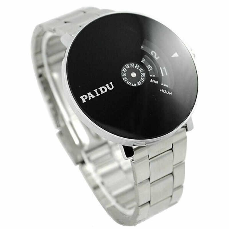 Fashion Brand Luxe Horloges Roestvrij Zilveren Band PAIDU Quartz Horloge Black Turntable Wijzerplaat mannen Gift Relogio Klok A7