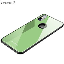 YWEWBJH Glass Phone Case For iPhone X 7 8 6s XS Cover 6 Plus XR Luxury Back