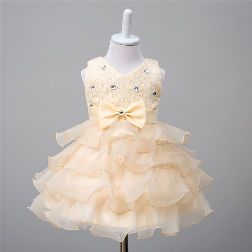 6M-6Yrs Baby Girl Birthday or Wedding Dress Newborn Baby Infant Kids Baby Girl Clothes High Quality Layered Dress in 7 Colors платье для девочек unbrand baby v 2 6 kids dress