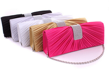2017 new luxury diamond dinner evening bags long size velour silver chain women clutch Elegant diamond Hasp women bag