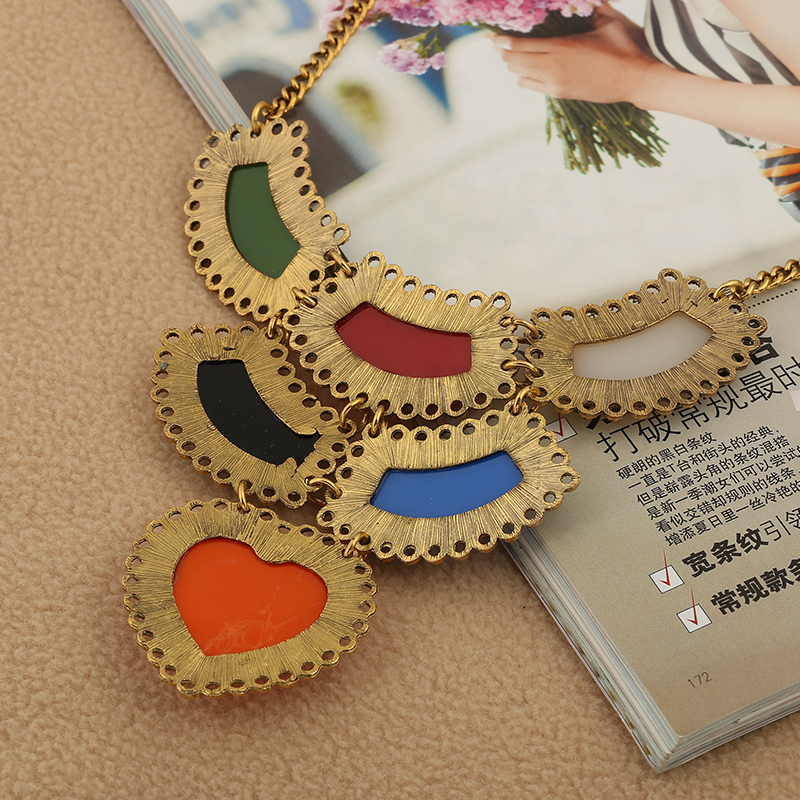 f812a1cb9 Free Shipping Factory Hot Sale Handmade Popular Fashion Gold Jewellery  Designs Necklace With Stone For Women-in Pendant Necklaces from Jewelry &  Accessories ...