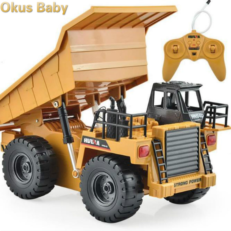 2019 Brand New RC Truck 2.4G 6 Channel Remote Control 540 Metal Dump Truck 4 Wheel Realistic Machine Toys