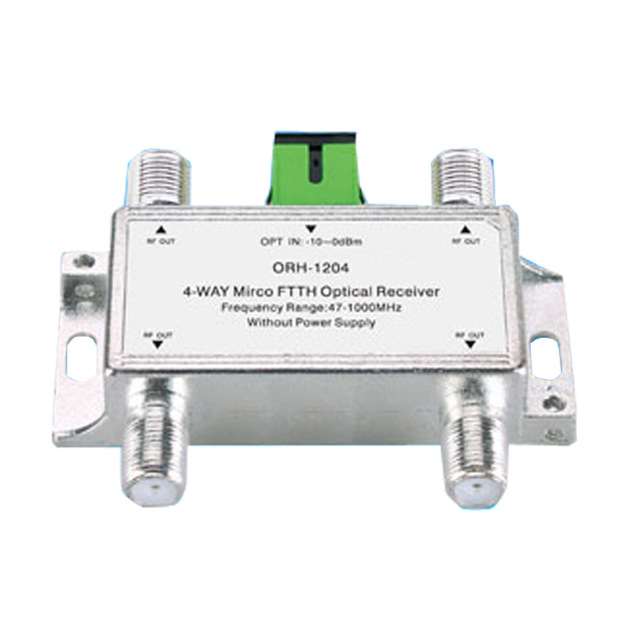 Mini CATV FTTH Optical Receiver ORH-1204 47-1000MHz,4 Way Passive FTTH Negative Optical Receiver