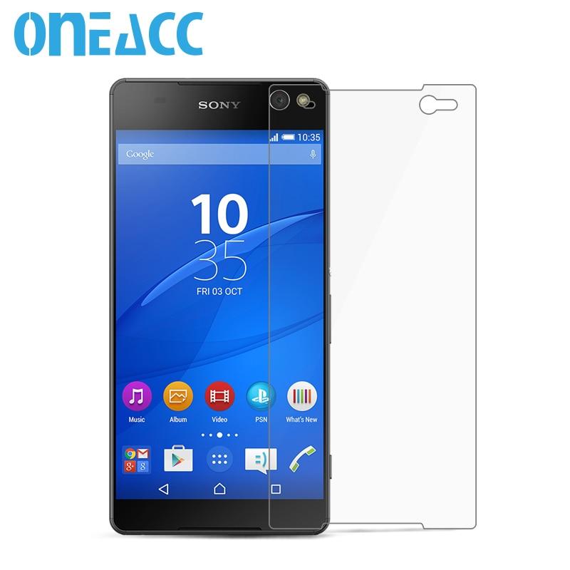 ᗕOneacc 0.3mm vidrio templado para Sony Xperia C5 ultra e5553 e5506 ...