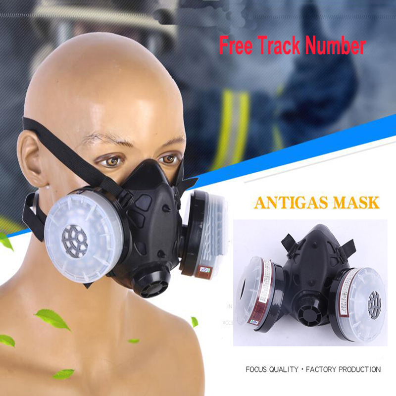 3 In 1 Anti-dust Painting Spray Silicone Respirator Half face Facepiece pesticide gas mask kitmmm6094mmm8200 value kit scotch photo mount spray adhesive mmm6094 and 3m n95 particle respirator 8200 mask mmm8200