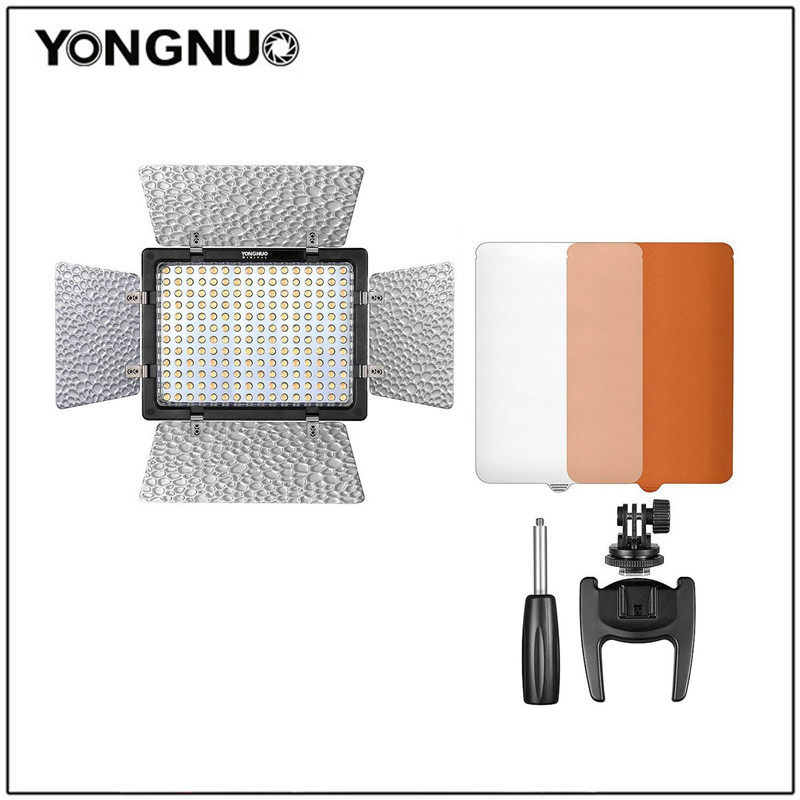 YONGNUO YN-160 III YN160 III Pro LED Video Light with Adjustable Color Temperature 3200K-5500K for Canon Nikon Camcorder