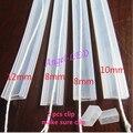 5 m/10 m comprimento 8mm/10mm/12mm tubo de Silicone IP67 para SMD5050 3528 3014 5630 ws2801 ws2811 ws2812b à prova d' água tira conduzida Silício cilp