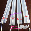 5m/10m length 8mm/10mm/12mm Silicon tube IP67 for SMD5050 3528 3014 5630 ws2801 ws2811 ws2812b waterproof led strip Silicon cilp