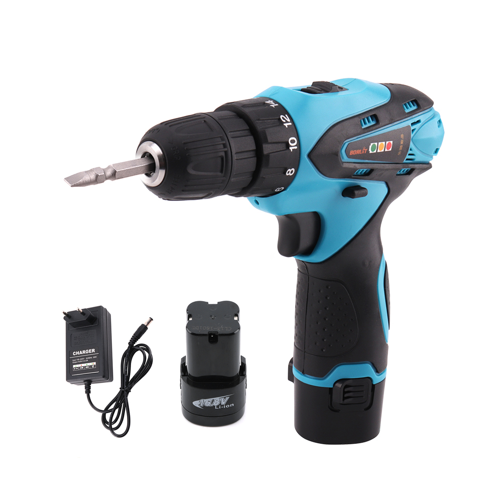 Multi-function Power Tools BORUiT Electric Screwdriver Cordless Electric Drill with Rechargeable 16.8V Lithium Battery