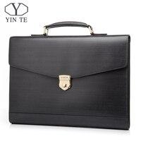 YINTE кожаные портфели мужские сумки мессенджеры для ноутбука Сумка тоут офисная сумка для занятий адвокатом бизнес жесткие сумки Портфели