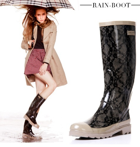 ФОТО High quality handsome classic women's rain boots thigh highsr boots fashion lace galoshes female rain boots