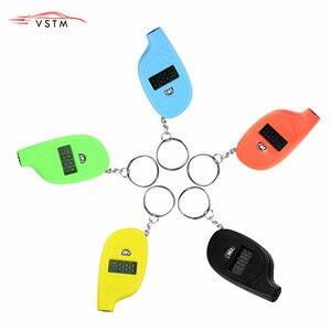 Novo Mini Portátil Keychain 2-150 PSI Digital LCD Pneu Pneu Da Roda Air Tester Medidor de Pressão de Pneu Ferramenta De Procissão monitor de pressão