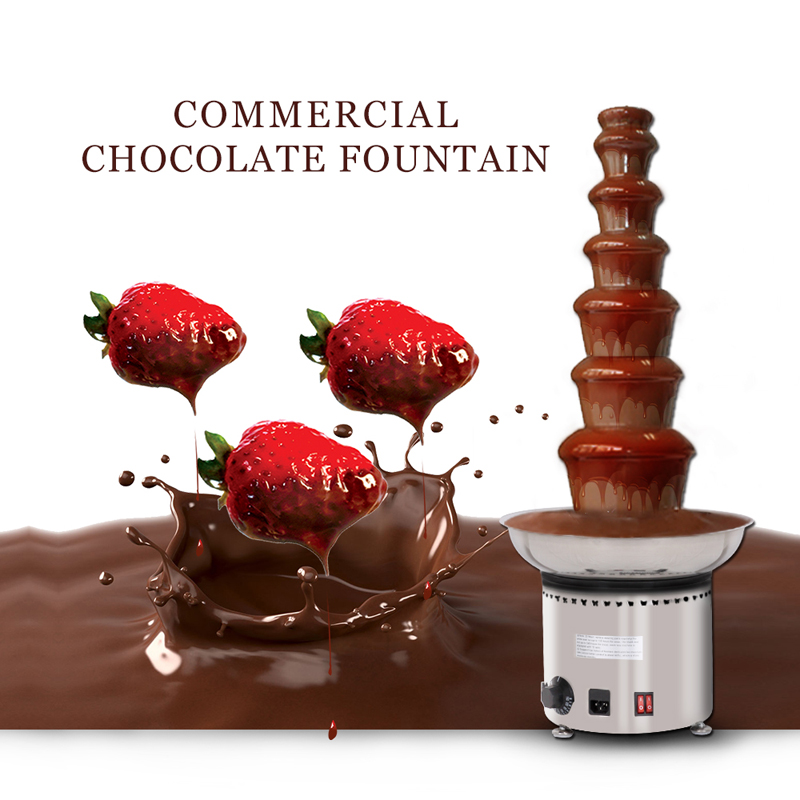 7 Layers Stainless Steel Chocolate Fountain Fontaine Chocolat Machine Tempering Machine 110V-240V Cooking Appliances 65w stainless steel chocolate fountain ac 230v