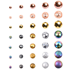 Wholesale 4 6 8 10mm Natural Round Rose Gold Silver Hematite Stones Loose Beads for Diy Jewelry Making Bracelet Accessories 15