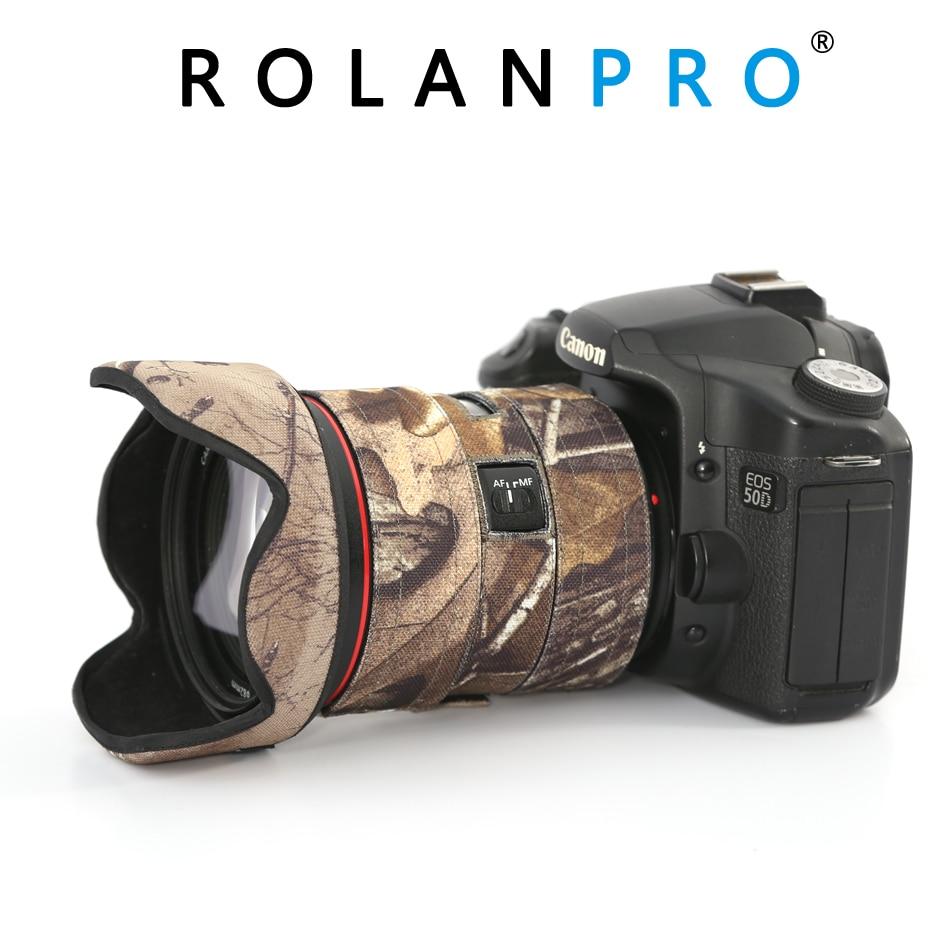 ROLANPRO camouflage Lens Coat for Canon EF 24 70mm F 2 8 L II USM Rain