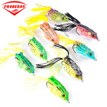 Top-water Rubber Silicone Frog Lure 60mm 13.5g Soft Jump Bait With Hook For Carp Wobblers Artificial Baits Float Weedless