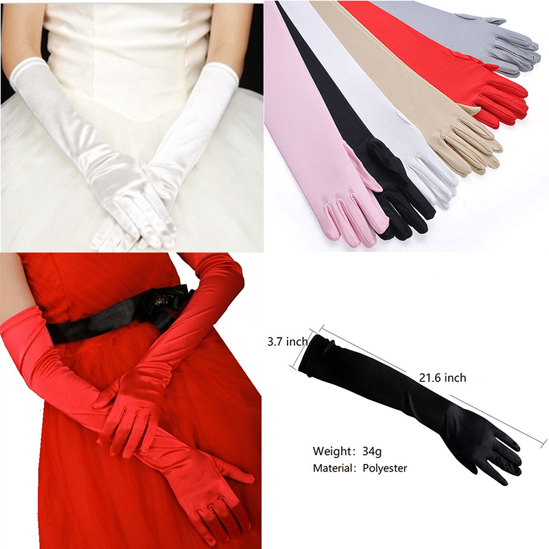 179cc5a142f1 Detail Feedback Questions about Satin Long Finger Elbow Sun Protection Gloves  Opera Evening Party Prom Costume Fashion Gloves Black Women luvas de  inverno ...