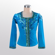 blue bird men's ballet top boy's ballet jacket for man dance costumes boy coat for ballet professional ballet topBM0006