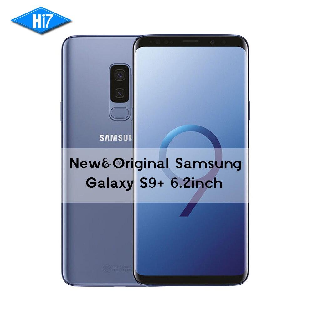 Nouvelle D'origine Samsung Galaxy S9 Plus 6.2 pouce Double Sim 6 GB RAM 64 GB/128 GB/256 GB ROM Android 8.0 D'empreintes Digitales LTE 4G Mobile téléphone