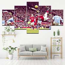 Canvas Painting Wayne Rooney overhead kick 5 Pieces Wall Art Modular Sport Wallpapers Poster Print Home Decor