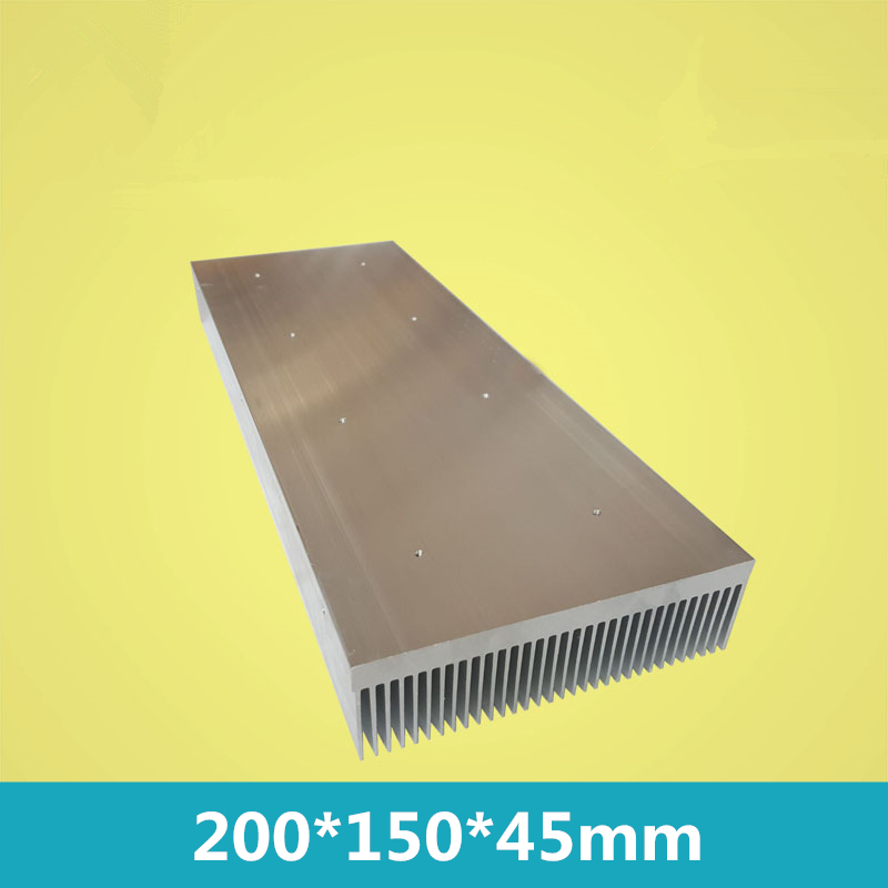 200*150*45mm For LED/computer/MOS chips/power tube/amplifier Aluminium alloy thermal heat sink radiator heatsink Fin dentate 5pcs lot pure copper broken groove memory mos radiator fin raspberry pi chip notebook radiator 14 14 4 0mm copper heatsink