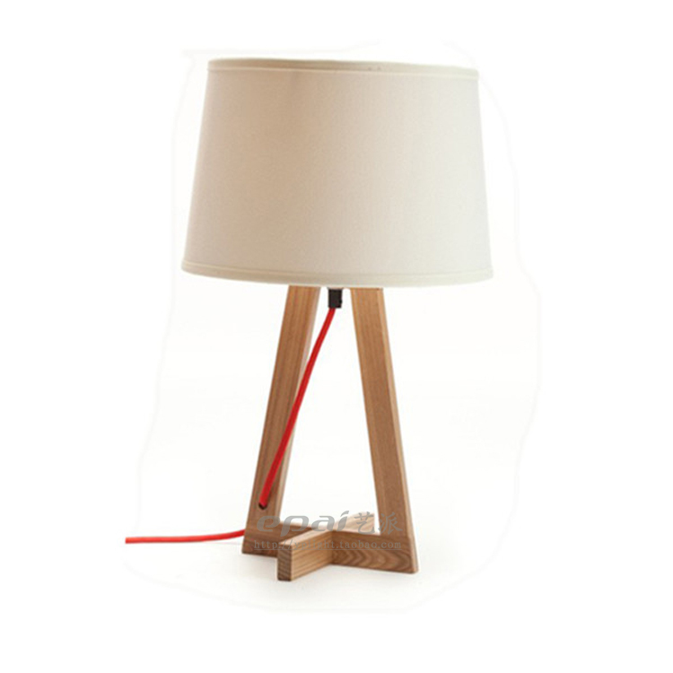 Scandinavian Arts School Retro Art Lighting Design Home Furnishings Lamp Table Lamp Wooden Cross