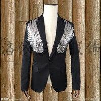 새로운 블랙 재킷 웨딩 신랑 재킷 착실히 보내다 남성 옷