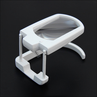 3x Desk Magnifying Glass 2 LED Lights Illuminant Table Foldable Magnifier WithStand For Reading