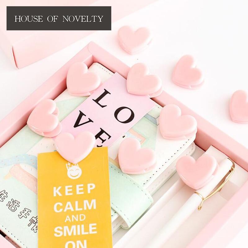 4 Pcs/lot Love Pink Heart Cute Pushpin Thumbtack Pins Decorative DIY Tool Wholesale