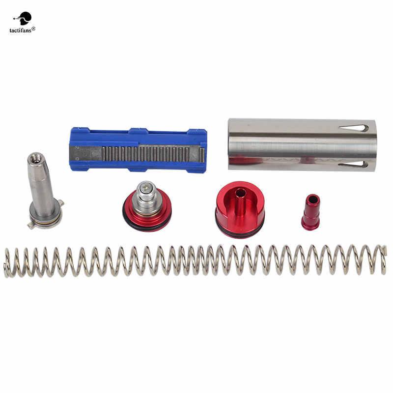 M4/m16 kit de ajuste m120, pistão de primavera 14 dentes, cilindro suave, pistão, cilindro, cabeça de cilindro, guia de mola para ver. 2 m4 bico airsoft aeg